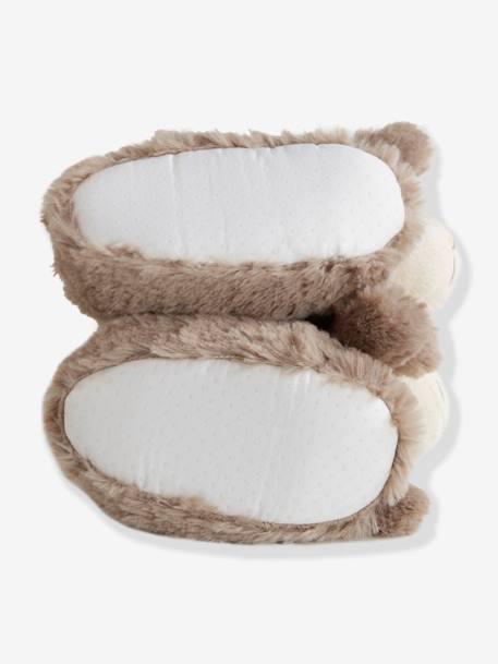 Plush Slippers for Baby Boys GREY MEDIUM SOLID