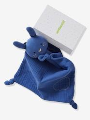 Toys-Gift Box with Baby Comforter + Rattle, in Fabric