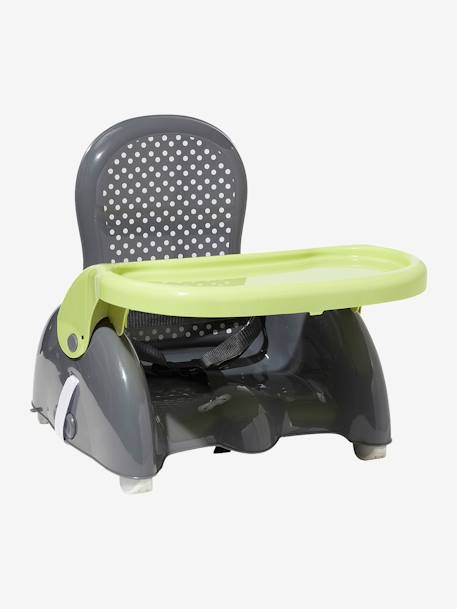 VERTBAUDET Progressive Booster Seat Grey / green+GREY DARK SOLID WITH DESIGN