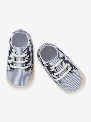 Shoes-Baby Footwear-Newborn-Lace-Up Pram Shoes for Baby Boys