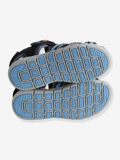 Sandals for Boys BLACK DARK SOLID WITH DESIGN+BLUE DARK SOLID WITH DESIGN