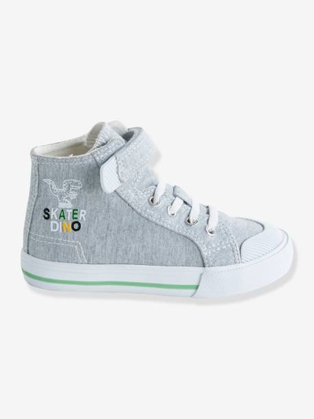Trainers for Boys, Designed for Autonomy GREY MEDIUM SOLID WITH DESIGN+RED MEDIUM SOLID WITH DESIG