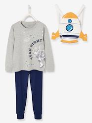 Boys-Nightwear-Astronaut Pyjamas and Rocket Backpack for the Pyjamas, for Boys