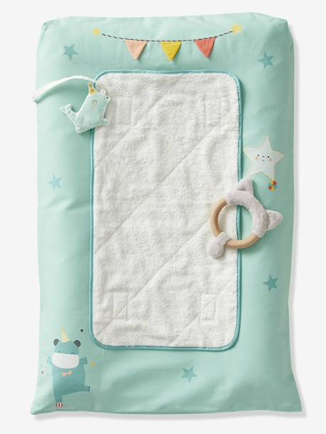 Changing Mat, Baby Circus BLUE MEDIUM SOLID WITH DESIGN