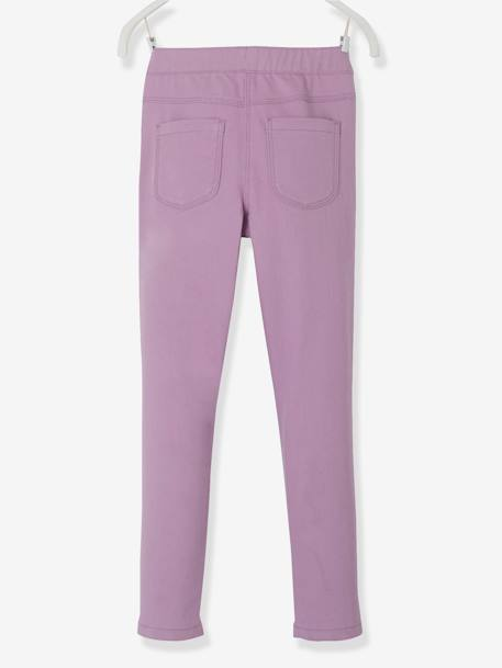 Girls' Plain Treggings BLUE LIGHT SOLID+Pink+PINK BRIGHT SOLID+PURPLE LIGHT SOLID+YELLOW BRIGHT SOLID+YELLOW DARK SOLID