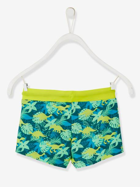 0c85d01e53 Swim Shorts with Exotic Motif, for Boys GREEN DARK ALL OVER PRINTED