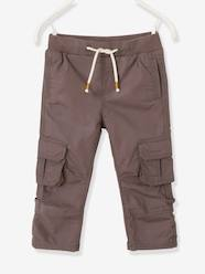 Boys-Cropped Cargo Trousers for Boys, Raise up to Bermuda Shorts