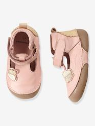 Shoes-Baby Footwear-Girls Leather Sandals, Designed For Crawling Babies