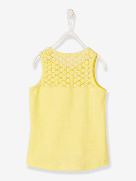 Singlet for Girls GREEN LIGHT SOLID+PINK BRIGHT SOLID+WHITE LIGHT SOLID+YELLOW LIGHT SOLID