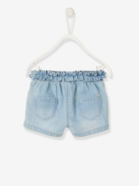 Skort in Brushed Denim for Baby Girls BLUE LIGHT WASCHED