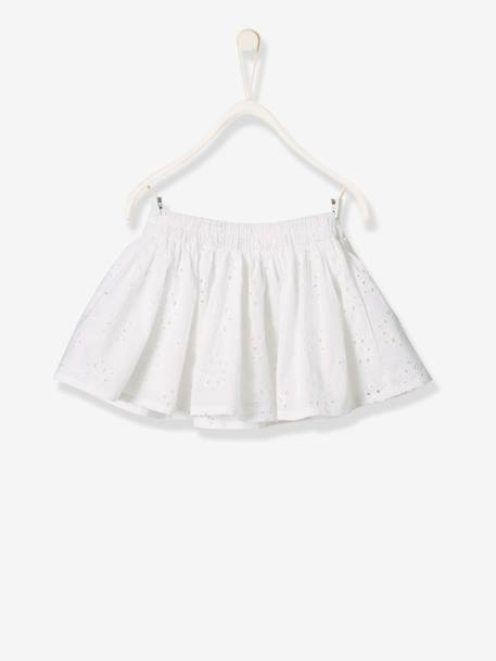 Broderie Anglaise Skirt for Baby Girls WHITE LIGHT SOLID