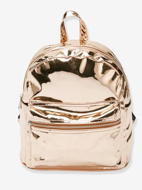 Shiny Backpack for Girls PINK LIGHT SOLID