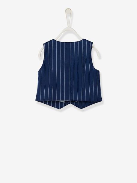 Baby Boys' Cardigan, Shirt, Bowtie & Trousers Outfit Set BLUE DARK STRIPED+Ink/grey/light blue