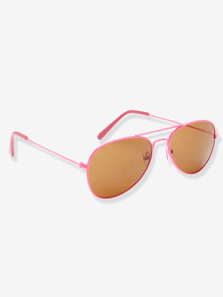 Aviator-Style Sunglasses for Girls PINK BRIGHT SOLID