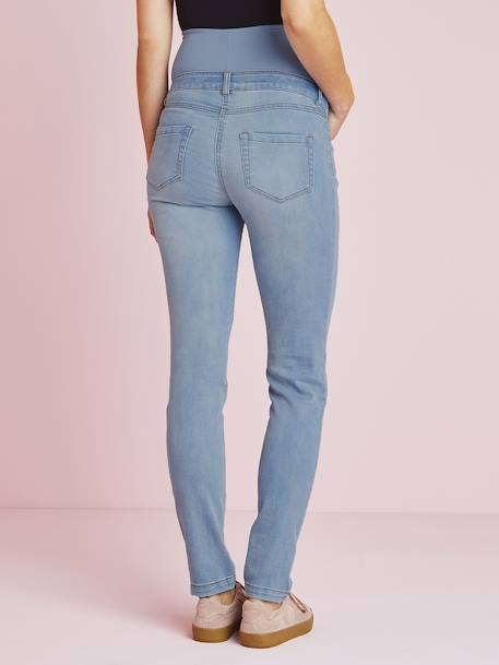 Maternity Slim Strech Jeans - Inside Leg 33' Black+BLUE LIGHT WASCHED+Grey+Untreated