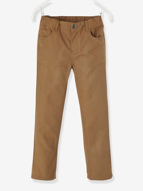Boys' Indestructible Straight Cut Trousers BLUE BRIGHT SOLID+BLUE DARK SOLID+BROWN DARK SOLID+BROWN MEDIUM SOLID+GREEN DARK SOLID+RED DARK SOLID