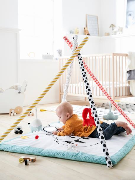 Activity Mat with Arch, On the Way to the Stars WHITE LIGHT SOLID WITH DESIGN