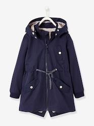 Girls-Coats & Jackets-Parka with Detachable Hood for Girls