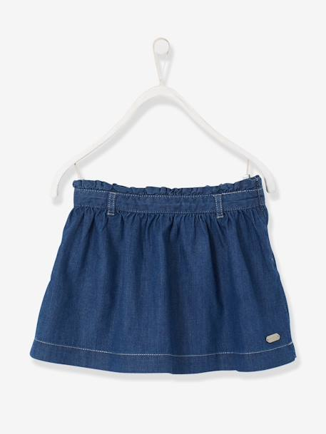 Girls' Chambray Skirt Stonewashed
