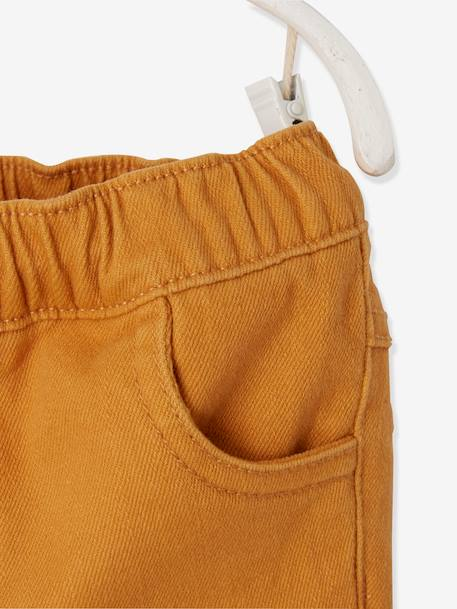 Bermuda Shorts, Fabric, for Baby Boys ORANGE MEDIUM SOLID