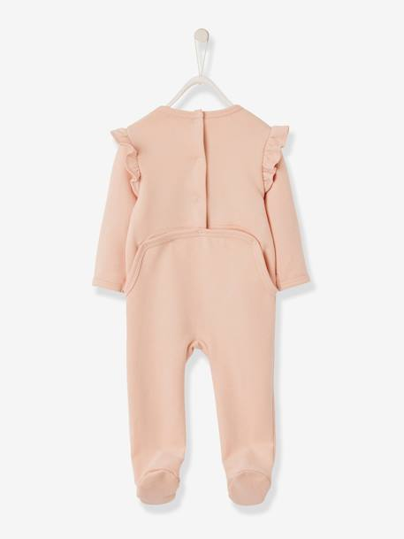 Sleepsuit for Newborn Baby Girls, Big Dreamer PINK LIGHT SOLID WITH DESIGN