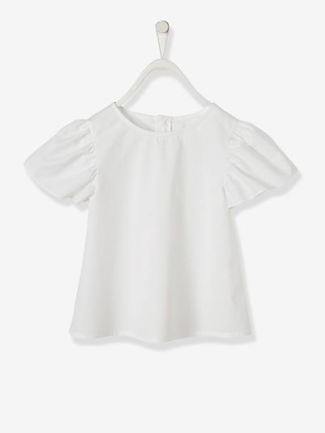 Wide-Sleeve Blouse for Girls WHITE LIGHT ALL OVER PRINTED