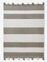 Storage & Decoration-Decoration-Rugs-Striped Rug, with Pompons
