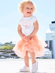 Baby-Outfits-Occasion Outfit: T-Shirt with Sequins & Skirt in Tulle, for Baby Girls
