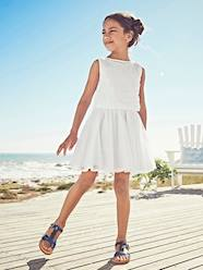 Girls-Dresses-2-in-1 Occasion Wear Dress with Top in Broderie Anglaise