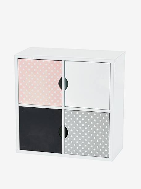 4-Box Storage Unit Grey+White
