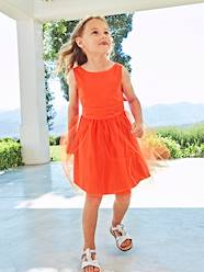 Girls-Dresses-Girls' Sateen & Tulle Occasion Dress