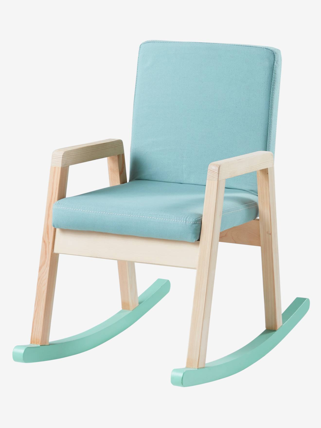 Rocking Chair In Wood Green Light Solid With Design Bedroom Furniture Storage Vertbaudet