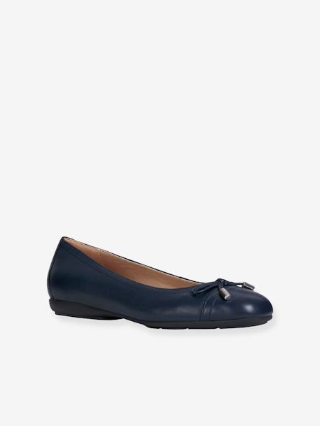 87e791affb380 Leather Ballet Pumps for Women, D ANNYTAH by GEOX® - blue dark solid