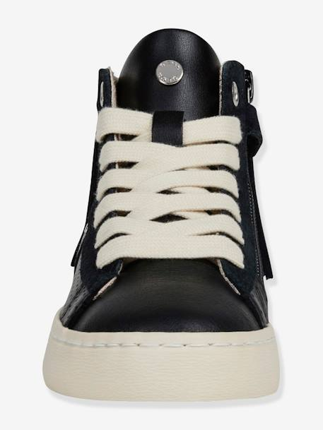 High-Top Lace-up Trainers for Girls, Kilwi Girl by GEOX® BLACK DARK SOLID