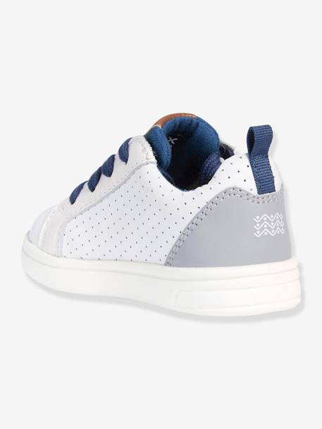 Trainers for Baby Boys, DJ Rock Boy A by GEOX® BLUE DARK SOLID+WHITE LIGHT SOLID