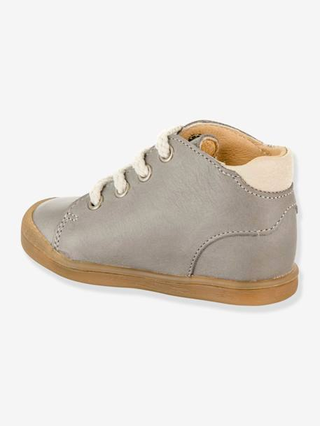 Leather Boots, B2 by Babybotte®, for Baby Boys BEIGE MEDIUM SOLID+GREY MEDIUM SOLID