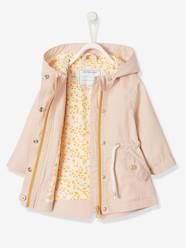 Baby-Outerwear-Jacket with Hood, Close-fitting at the Waist, for Baby Girls