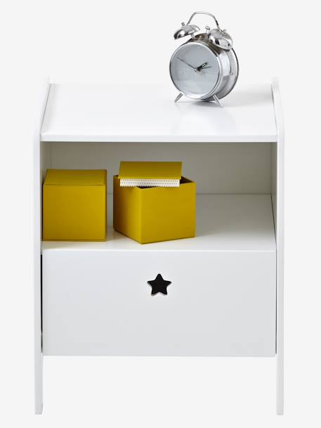 Bedside Table, Sirius Theme Grey+White