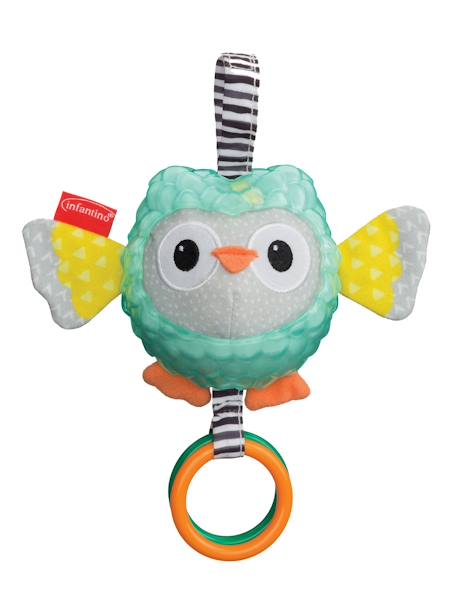 Owl with Different Textures, Texture Pal® by INFANTINO BLUE MEDIUM SOLID WITH DESIGN