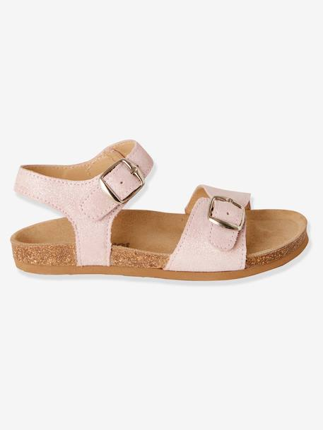 Anatomic Leather Sandals for Girls PINK LIGHT SOLID