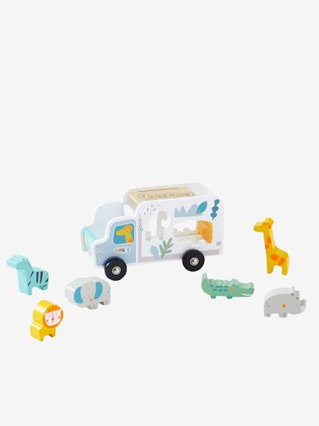 Truck Shape Sorter, Jungle GREY MEDIUM SOLID WITH DESIGN