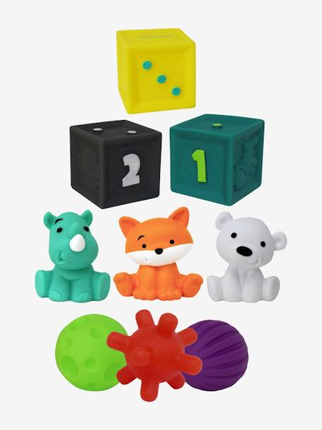 Set of 9 Elements for Sensory Activities, by INFANTINO GREEN MEDIUM SOLID