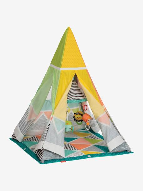 Grow-With-Me Playtime Gym Teepee, INFANTINO GREEN MEDIUM ALL OVER PRINTED