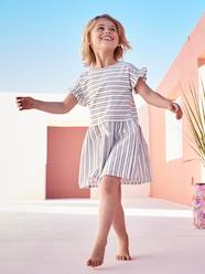 Girls-Short-Sleeved Dress for Girls