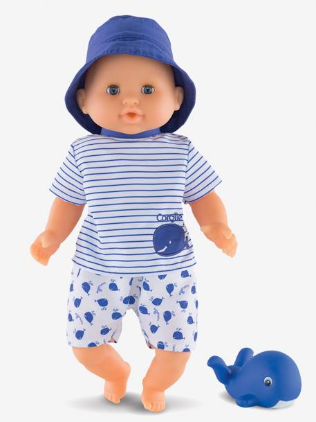 Baby Boy Bath Toy, by Corolle BLUE DARK SOLID WITH DESIGN