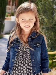 Girls-Coats & Jackets-Girls Denim Stretch Jacket