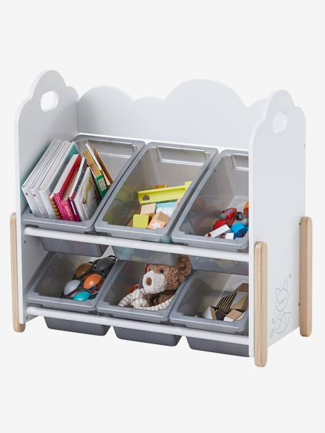 Storage Unit with Removable Boxes, Nuage Blanc WHITE LIGHT SOLID