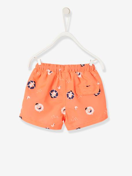 Swim Shorts for Baby Boys ORANGE BRIGHT ALL OVER PRINTED