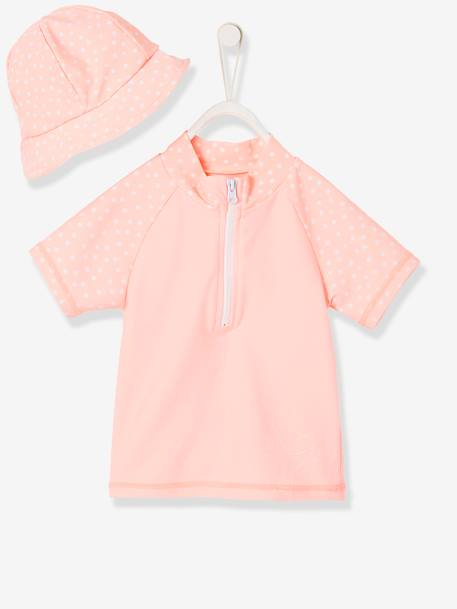 f35f51f69 UV Protection T-Shirt for Babies & Matching Bucket Hat - orange bright all  over printed, Baby | Vertbaudet