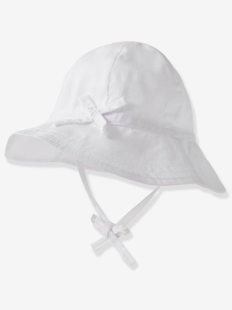 Sun Hat for Babies WHITE LIGHT SOLID